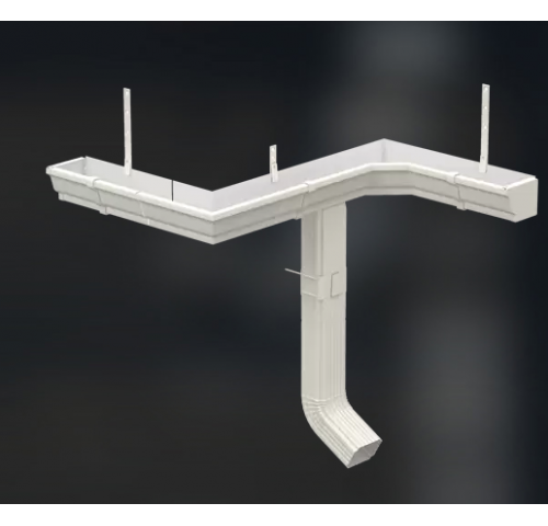 Водосточная система прямоугольного сечения (полимерное покрытие, оцинкованная)