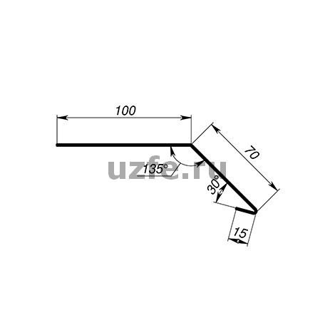 Карнизная планка (капельник) 100 х 70 мм