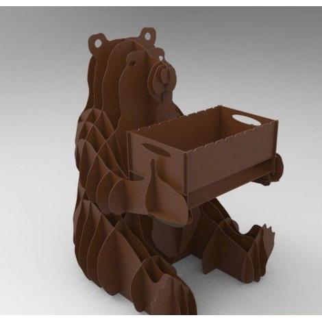Разборный мангал в виде сидячего Медведя
