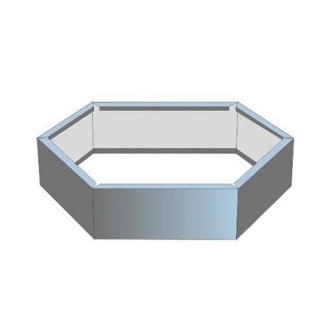 Клумба оцинк. d=0.5м (высота бортика 24см)