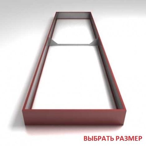 Грядки крашеные (высота бортика 18см, толщина металла 0,45мм)