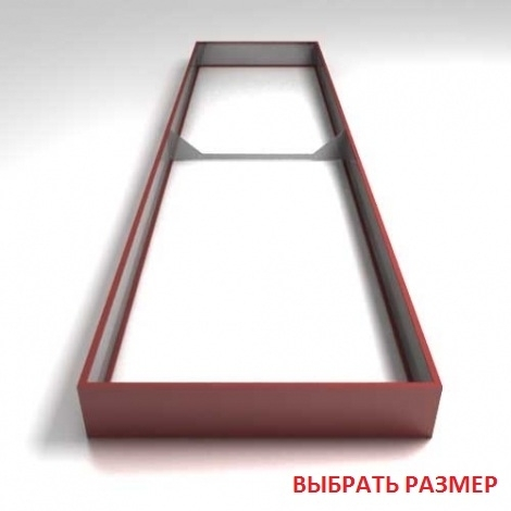 Грядки крашеные (высота бортика 24см, толщина металла 0,7мм)