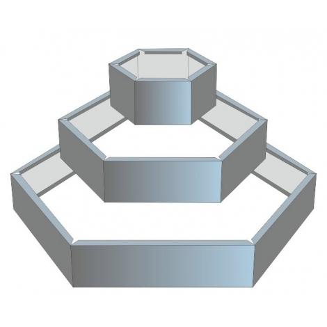 Альпийская горка оцинк. (D1=0.5м, D2=1м, D3=1.5м.) (высота бортика 24см)