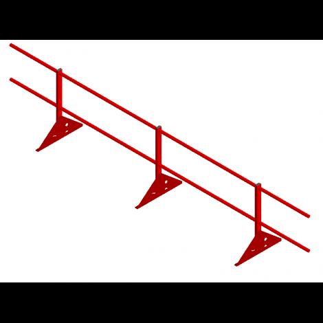 «УНИВЕРСАЛ» Н=600мм (регулируемая  опора, 2 трубы)
