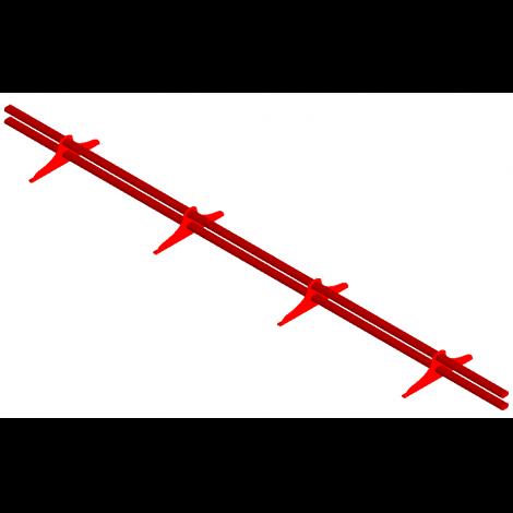 """Снегозадержатель трубчатый """"ПРЕМИУМ"""" (высота волны более 21 мм)"""
