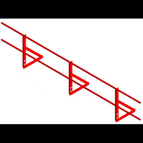 «СТАНДАРТ» Н=600мм (треугольная опора, 2 трубы)