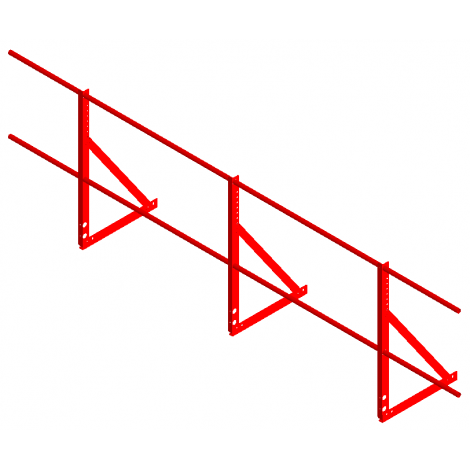 «СТАНДАРТ» Н=900мм (треугольная опора, 2 трубы)