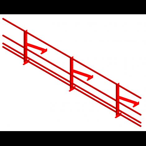 «СТАНДАРТ» Н=600мм (треугольная опора, 4 трубы)