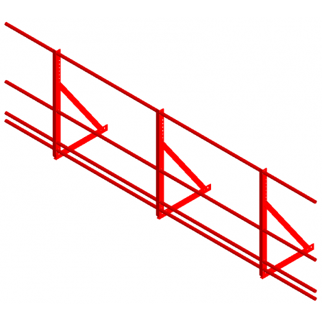 «СТАНДАРТ» Н=900мм (треугольная опора, 4 трубы)